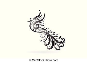 Phoenix bird tattoo logo icon