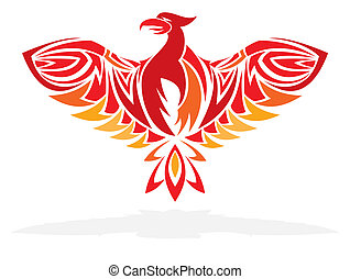 Phoenix bird vector illustration