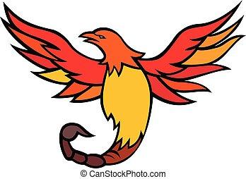Phoenix Bird With Scorpion Tail Mascot - Mascot icon...