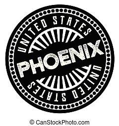 Phoenix black and white badge