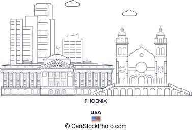 Phoenix City Skyline, USA
