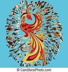 Phoenix Fire bird legend Firebird illustration. - Phoenix...