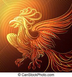 Phoenix in a flame