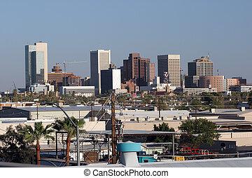 Industrial area next to Downtown of Phoenix, AZ
