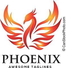 phoenix, logo, begriff