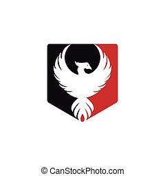 phoenix, logo, vektor, design.