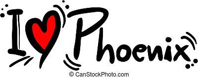 Phoenix love - Creative design of Poenix love