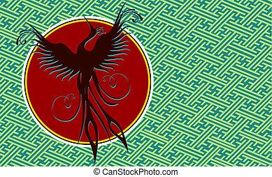 phoenix, pássaro, fundo