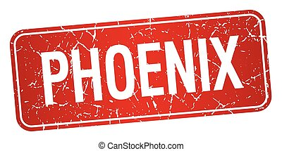 Phoenix red stamp isolated on white background