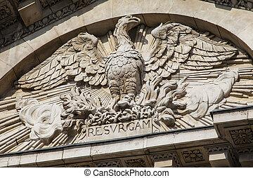 phoenix, s., pauls, fachada, catedral, escultura