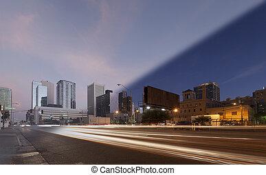Phoenix Skyline sunset twilight