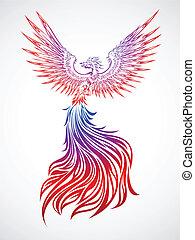 Phoenix tribal - Soaring phoenix tribal tattoo