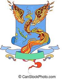 Phoenix vector geraldic  illustarti
