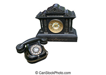 Phone and clock