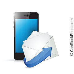 phone and email. contact us on the go concept
