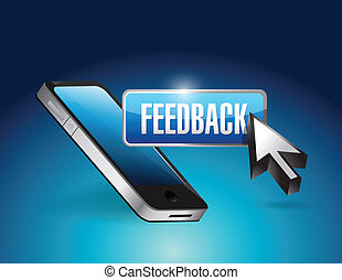 phone and feedback button illustration