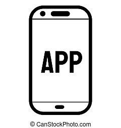Phone app vector symbol. Smartphone app icon. EPS vector icon.