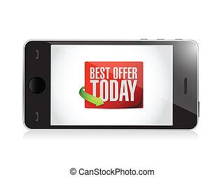 phone best offer today sign illustration