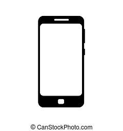 Phone black icon isolated on white background