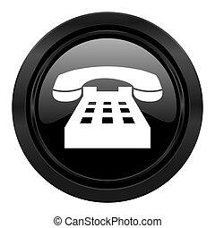 phone black icon telephone sign