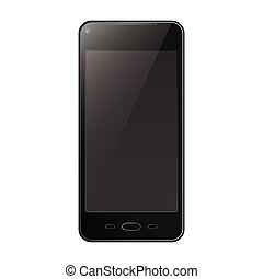 Phone black isolated