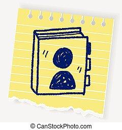 phone book doodle