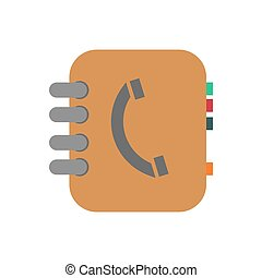 Phone book illustration