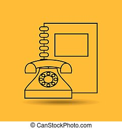 phone book notebook adress isolated, vector illustration...