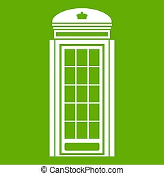 Phone booth icon green