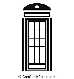 Phone booth icon, simple style
