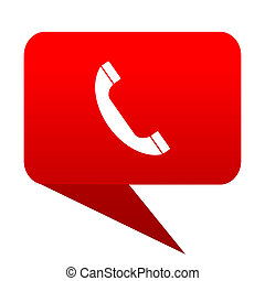 Phone bubble red icon