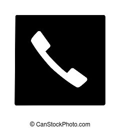 Phone Button Square Web Icon - msidiqf