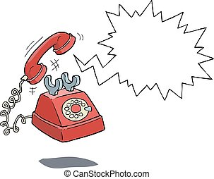 Phone call - The phone rings on a white background vector...