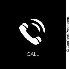 Phone call icon vector illustration. Telephone symbol