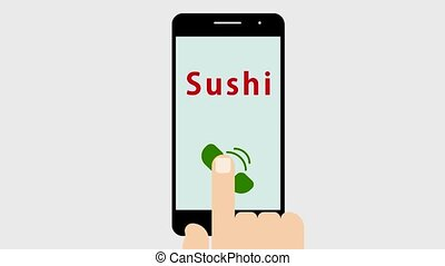 Phone call in sushi