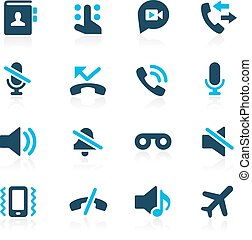 Phone Calls Icons -- Azure - Vector icons for your web,...