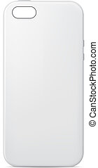 Vector illustration of a blank mobile phone case