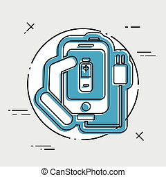 Phone charge icon
