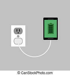 Phone Charging plug - Phone connected and charging to wall...