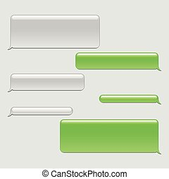 Phone chat bubbles icons detailed vector set