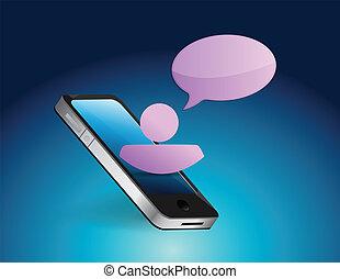 phone communication concept illustration
