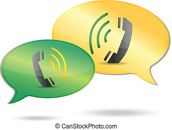 phone communication concept illustration