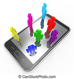 Phone Communication Means Global Communications And Chat
