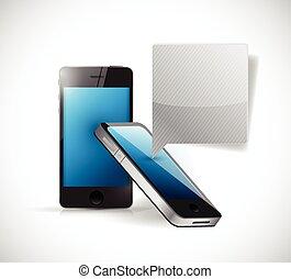 phone communication message concept