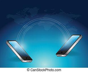 phone connection communication illustration