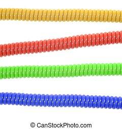 Phone Cord - A close up shot of a phone cord