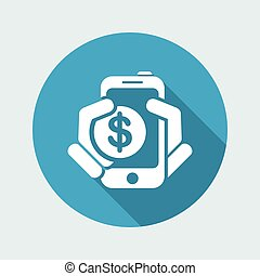 Phone cost icon