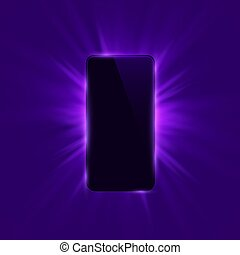 Phone cover color design modern purple background.