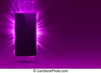 Phone cover purple color design modern background.