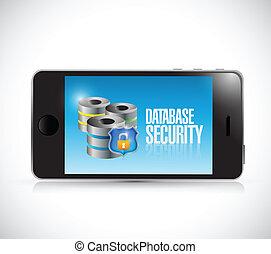 phone database security illustration design